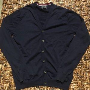 Men's H&M Navy Blue Cardigan Sweater Size Medium